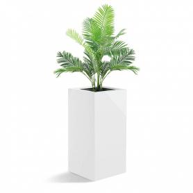 Donica wysoka z laminatu biała nowoczesna