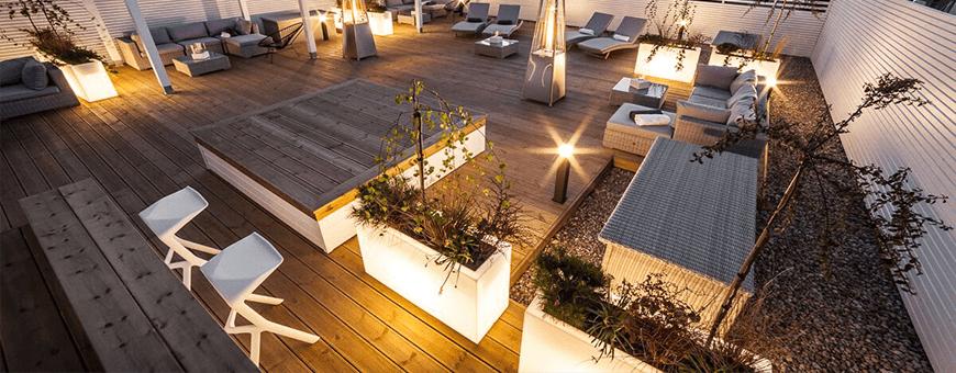 Donice podświetlane LEDowe tanio - świecące donice ogrodowe cena