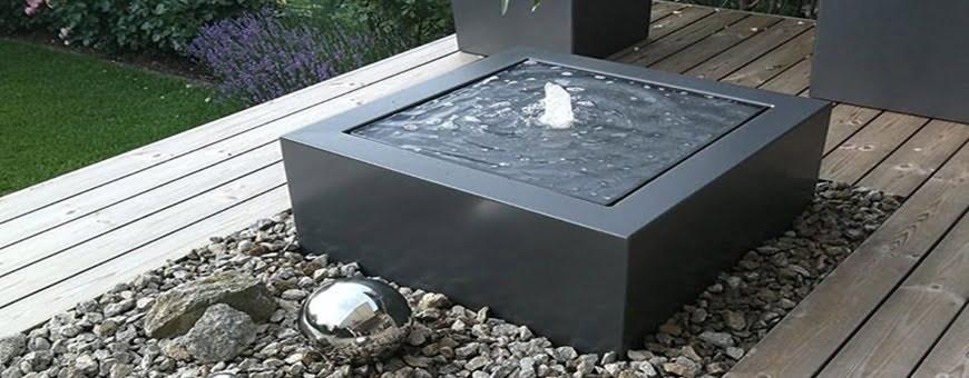 Fontanny ogrodowe nowoczesne, fontanny podświetlane solarne