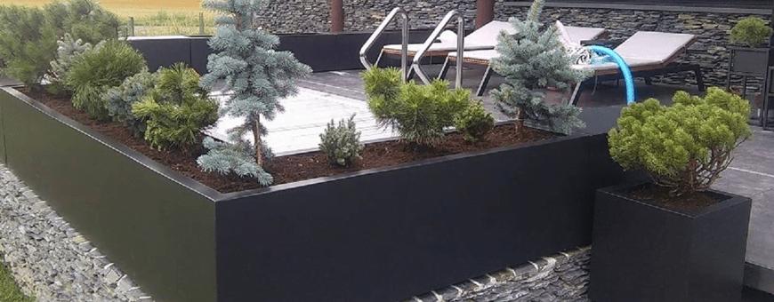 Wystrój i aranżacja donic ogrodowych dużych