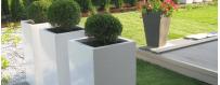 Donice ogrodowe wysokie, donice kwadratowe z polietylenu