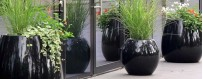 Donice ogrodowe z kompozytu poliestrowego