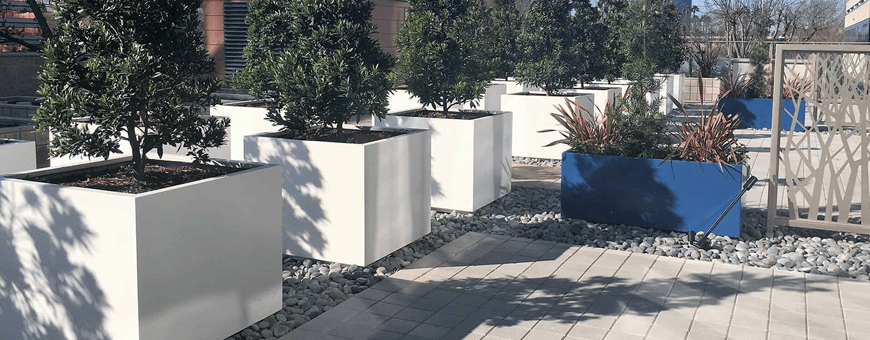 Donice z aluminium, aluminiowe doniczki ogrodowe