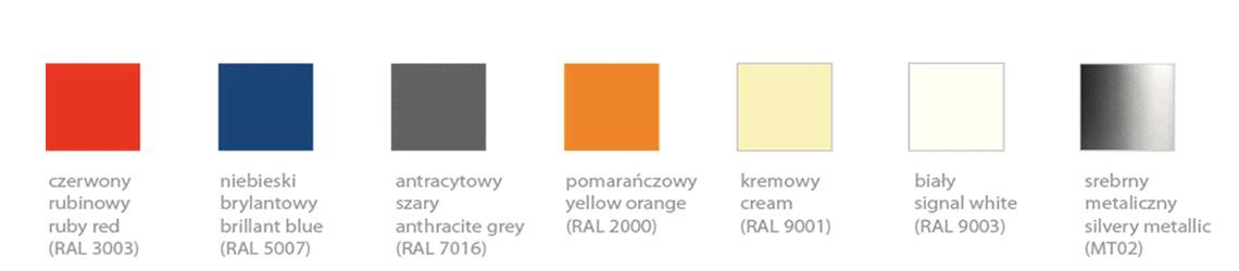 paleta ral kolorów donic tracino kama